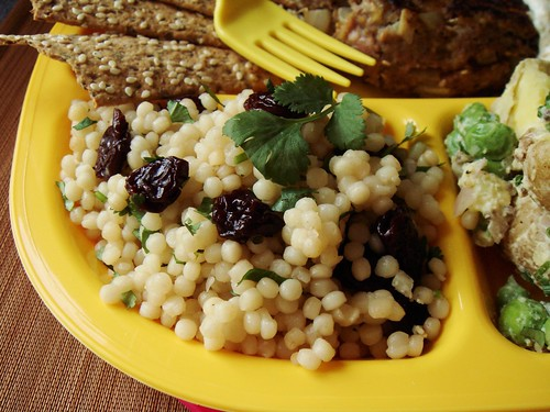 TV Dinner My Way: Israeli Couscous with Dried Cherries