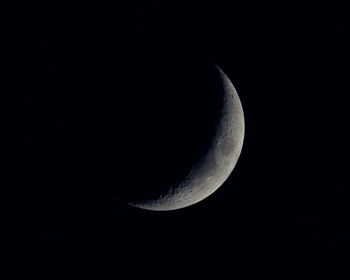 Waxing Crescent Moon (NASA, Marshall, 09/30/07)