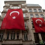 Turkish Flags on Istiklal Avenue - Istanbul, Turkey