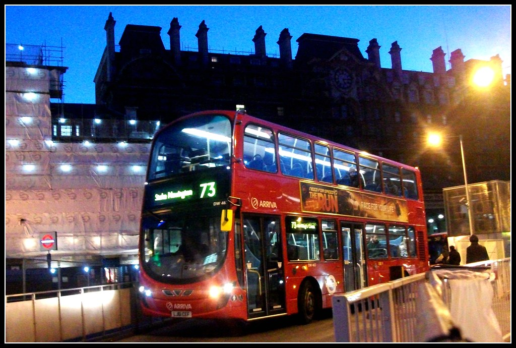 Arriva London DW463 on route 73 Victoria 28/01/12.