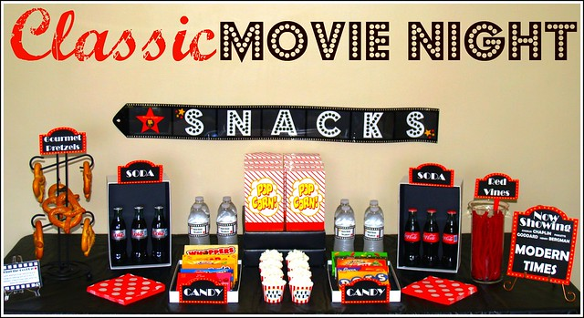 Classic Movie Night Concessions Stand