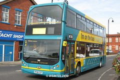 332 PF06 EZP Dennis Trident East Lancs Lolyne. Station Road FLEETWOOD