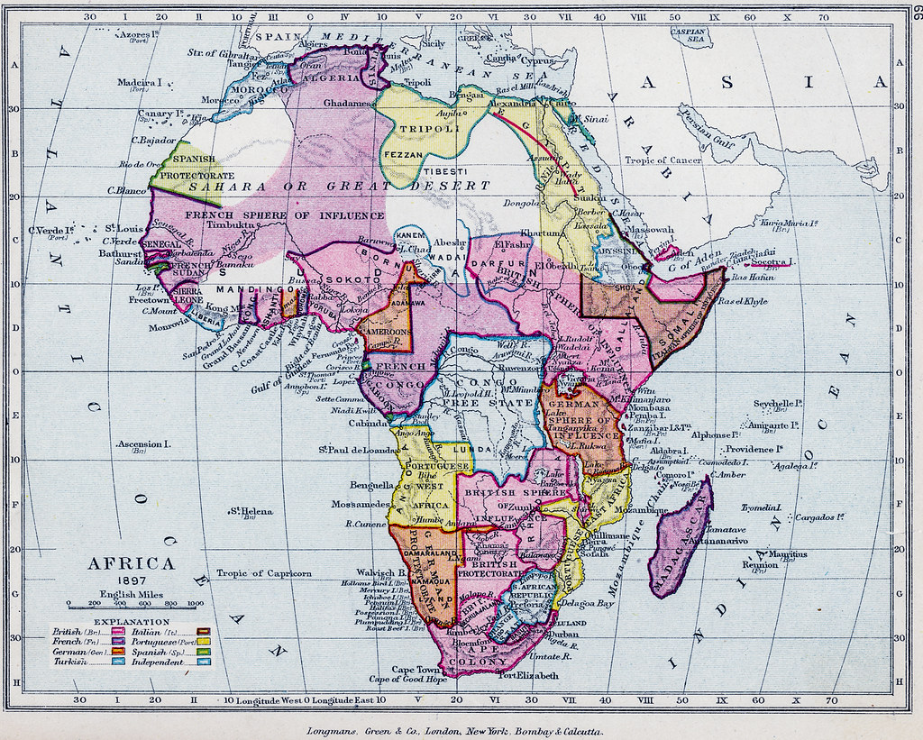 Map of Africa 1910