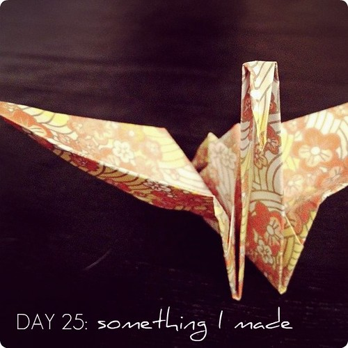 something I made #janphotoaday (1 of the 1,001 I made for our wedding day)