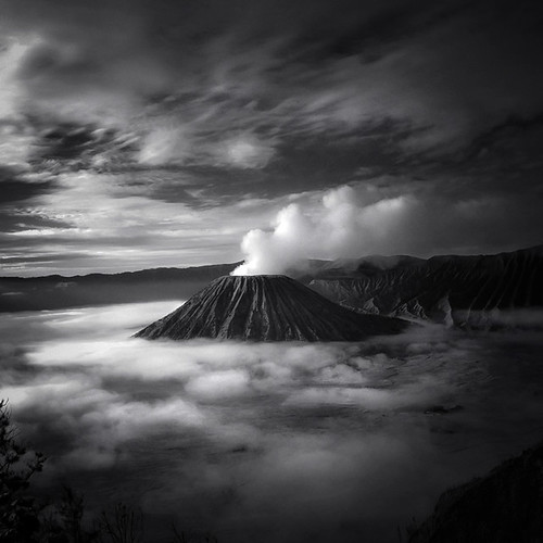 mist mountain fog dream surreal bromo