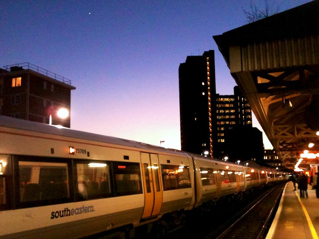 Dusk at Waterloo East