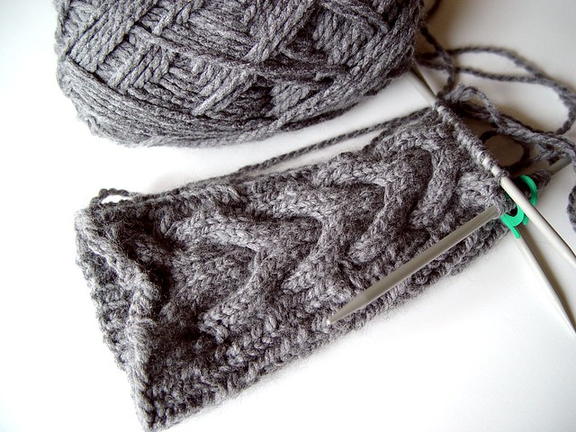 Knitting in progress