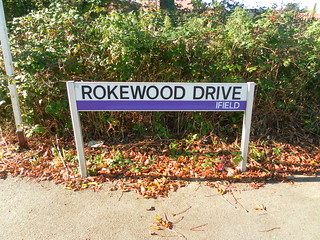 Classic Crawley street sign – Rokewood Drive, Ifield