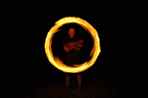 Spinning Fire dancing