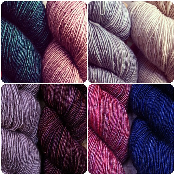 I love that I get to sell/play/look at yarn for a living.
