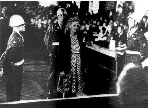 Ilse Koch en el juicio.