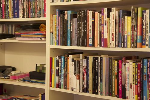 Books on the shelf...