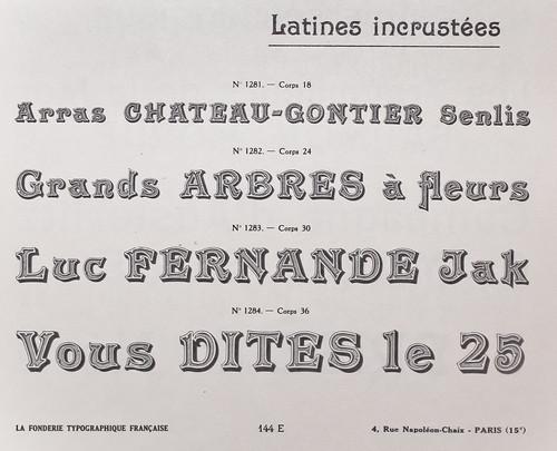 Specimen de la Fonderie Typographique Francaise by Ampersanden