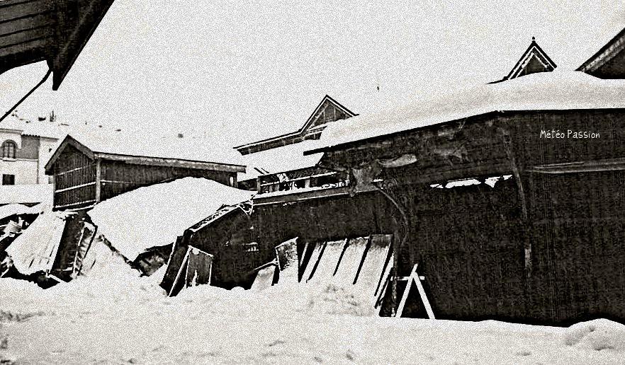 toitures effondrées par le poids de la neige à Perpignan, le 5 février 1954 météopassion