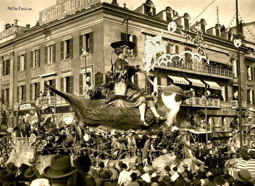 carnaval de Nice en février 1926 météopassion