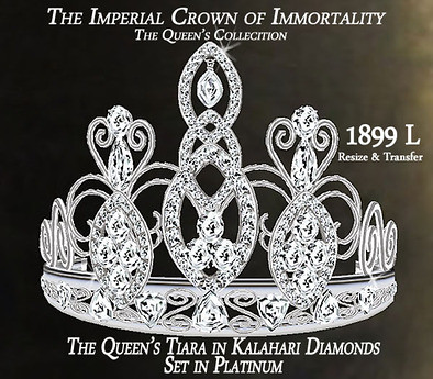 The Imperial Crown of Immortality Tiara Plat/Diam by Chop Zuey Couture Jewellery, 1899 lindens by Cherokeeh Asteria