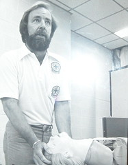 Dick Carney teaching CPR (early 80's)