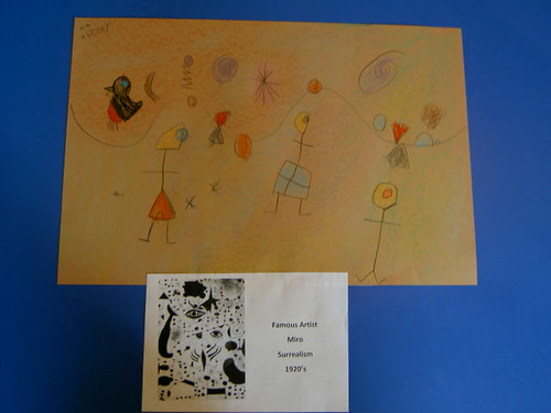 Famous Artist Study - Miro (Photo from Inspired Montessori and Arts at Dundee Montessori)