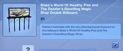 Blake's World of Healthy Pies Double Billboard