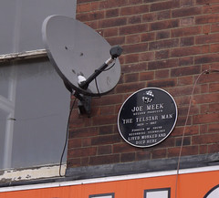 Photo of Joe Meek black plaque