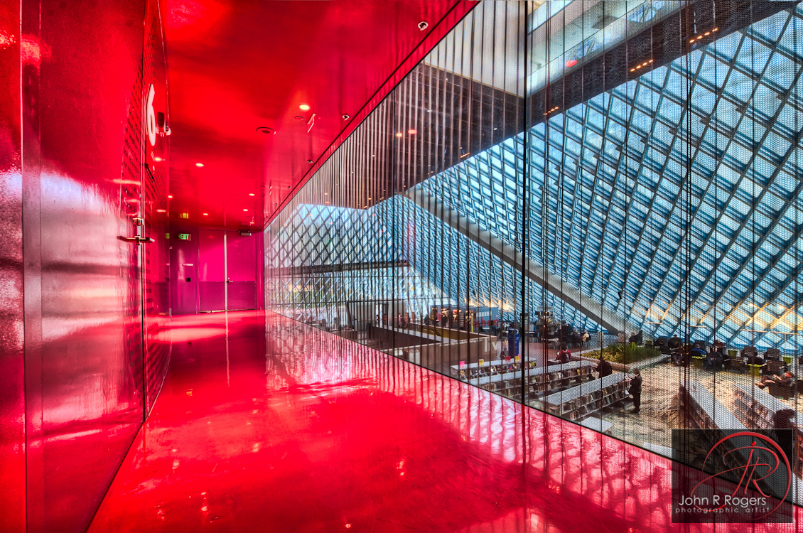 Seattle Public Library; The Red Hall
