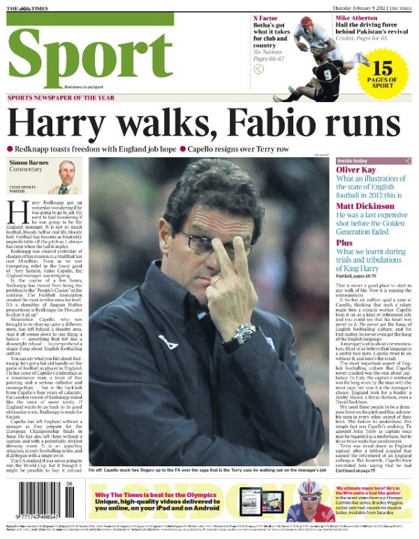 6843441897 f0d081a516 b Picture Special: Capello Out, Redknapp In