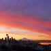 2-4-12 Epic Seattle Sunrise Panorama by David M Hogan