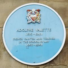 Photo of Pierre Adolphe Valette blue plaque
