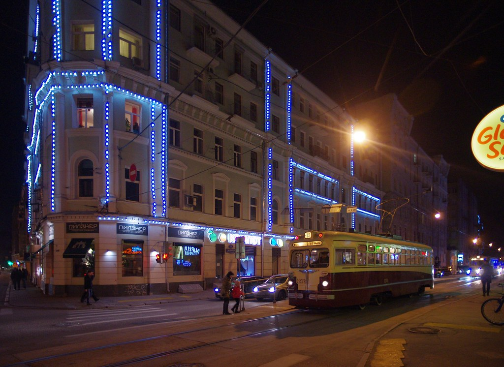 Moscow museum tram MTV-82