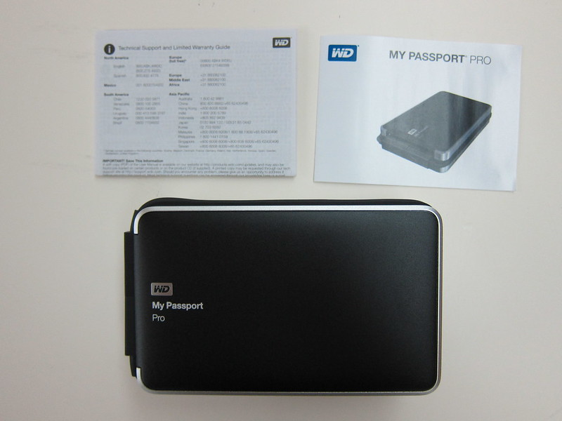 Western Digital My Passport Pro - Box Contents