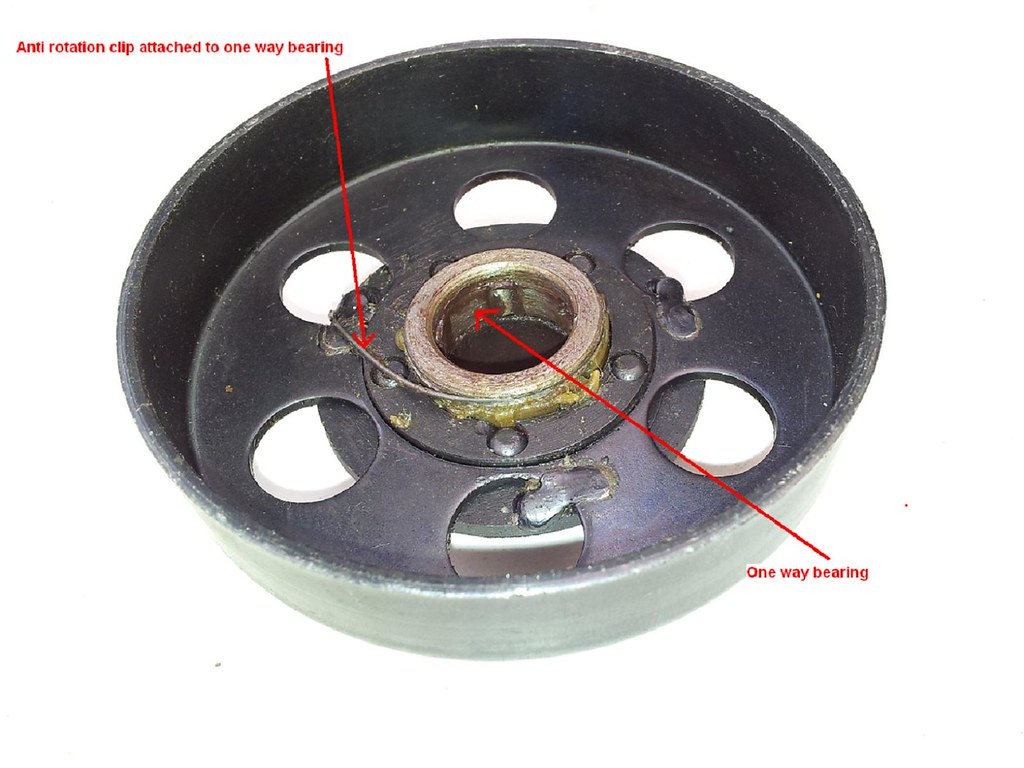 Centrifugal Clutch - 48cc, 60cc, 66cc, 80cc - pull-start/pedal-start, 2 stroke 6389008365_65d5f14522_b