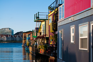 Row of Floating Houses