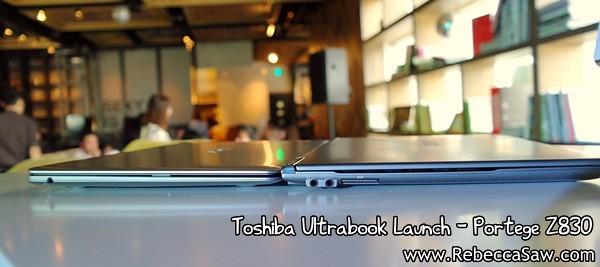 Toshiba Ultrabook - Portege Z830-leftside