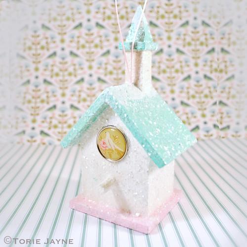 Glittery Snow Bird House