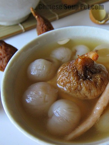 [photo-bowl of longan dried fig chinese yam pork soup]