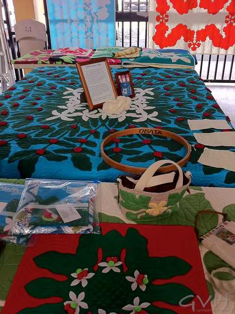 Quilt making at Kona Coffee Festival