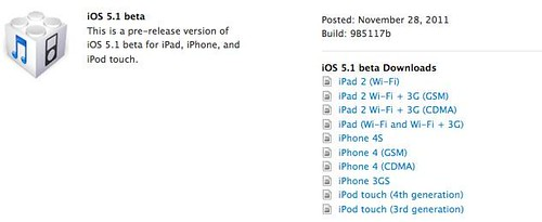 Apple iOS 5.1 Beta