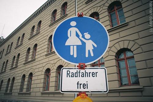 cat on child's head, Berlin