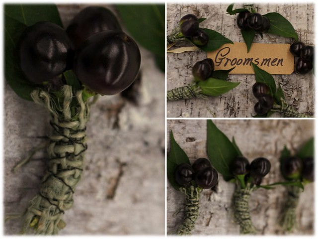 black pepper boutonniere