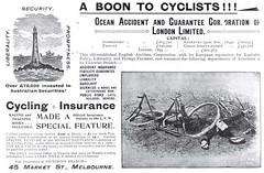 Australian Bicycle History: Accident Insurance 1890s