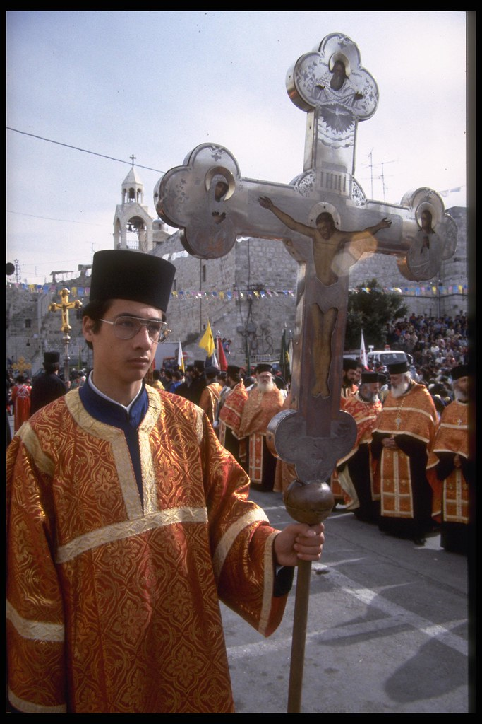 Greek Orthodox Christmas.The Annual Greek Orthodox Christmas Procession In Bethlehe