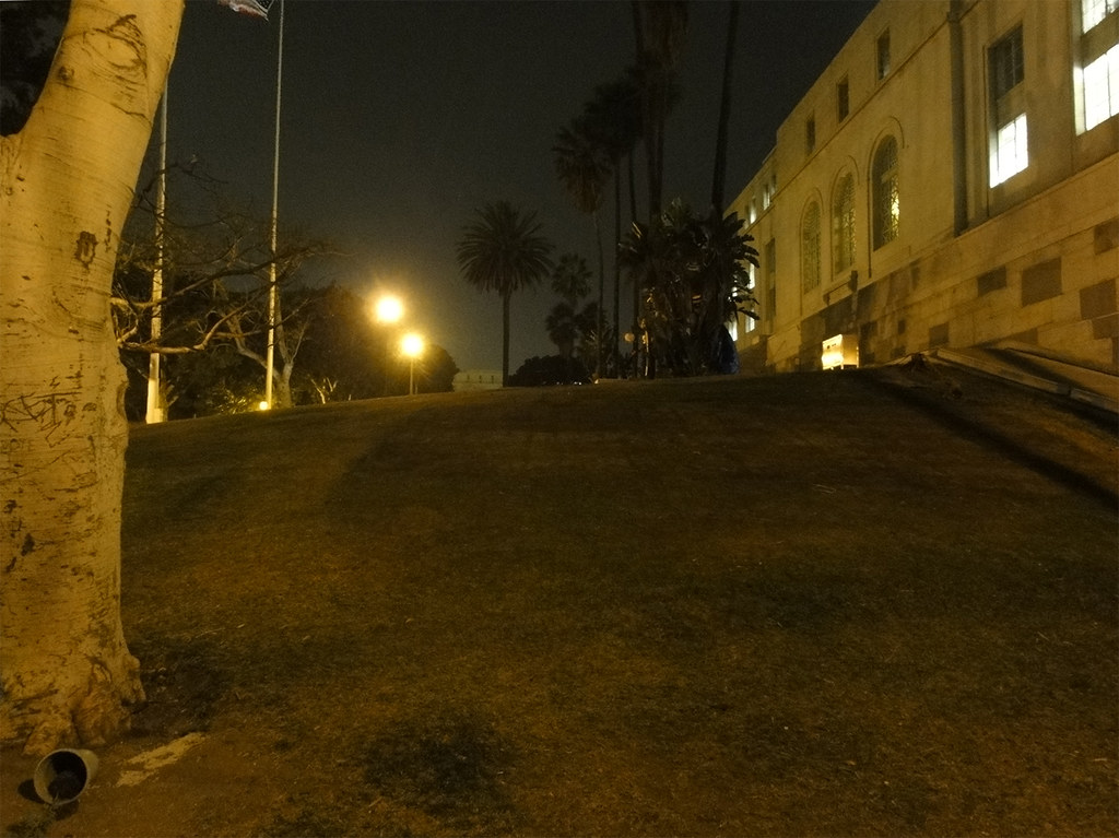 #OccupyLA first night after police raid, Los Angeles City Hall