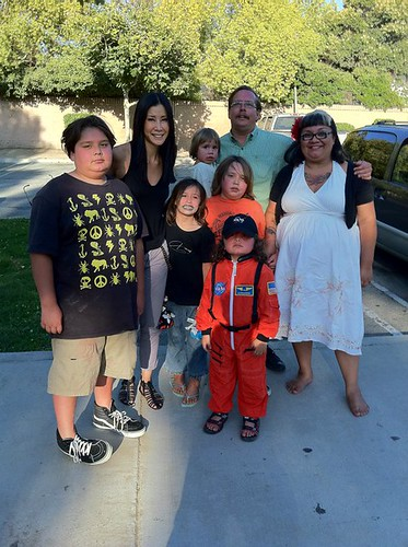 Lisa Ling and the Sherman's