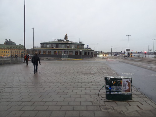 Bicycle pump @ Slussen Stockholm Sweden