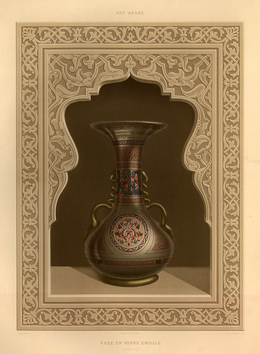 016-Jarra en vidrio esmaltado siglo XVI-L'art arabe d'apres les monuments du Kaire…Vol 3-1877- Achille Prisse d'Avennes y otros.
