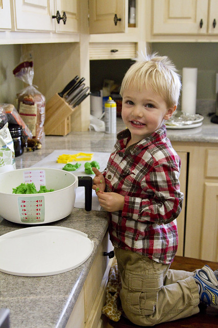 Blake cooking