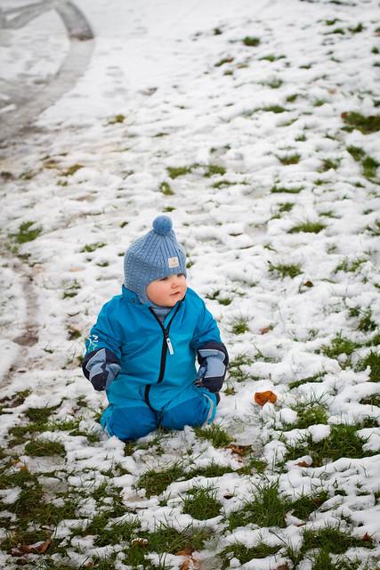 Ute i snøen for første gang