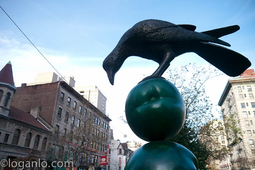 Sculpture on Broadway in the UWS, NYC