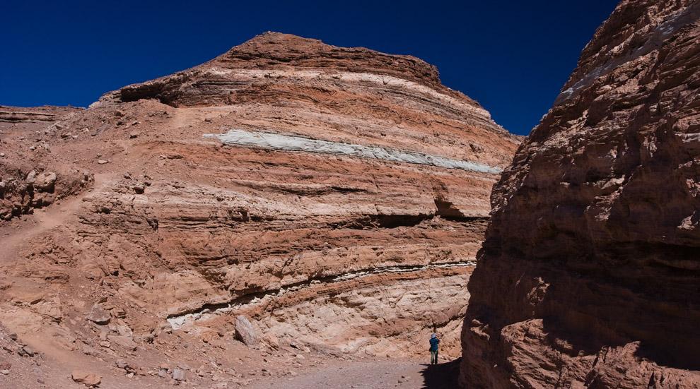 Rocas y cenizas de erupciones antiguas, forman este singular desfiladero. (Guillermo Morales)