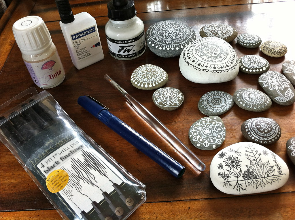Tools for Pebble Painting and Drawing